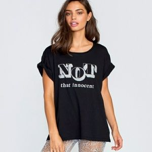 NWT WILDFOX GRAPHIC TEE SIZE M NOT THAT INNOCENT